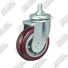 6 inch screw rod movable plastic core polyurethane wheel