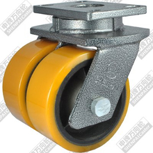12 inch flat bottom movable iron core polyurethane wheel