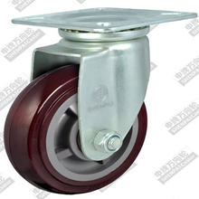 4 inch flat bottom movable plastic core polyurethane wheel