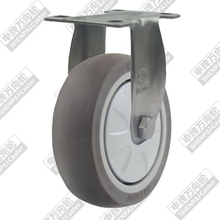 3 inch flat bottom fixed super artificial rubber wheel