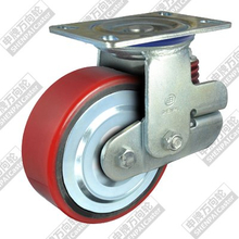 5 inch flat bottom movable iron core polyurethane wheel