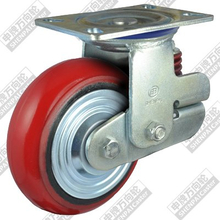6 inch flat bottom movable iron core polyurethane wheel (arc)