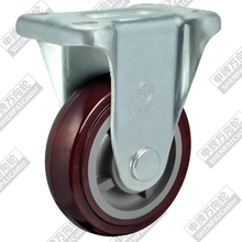 4 inch flat bottom fixed plastic core polyurethane wheel